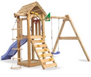 Portique balançoire en bois