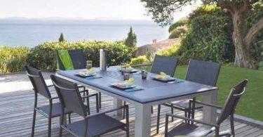 Tables et chaise de jardin en Aluminium