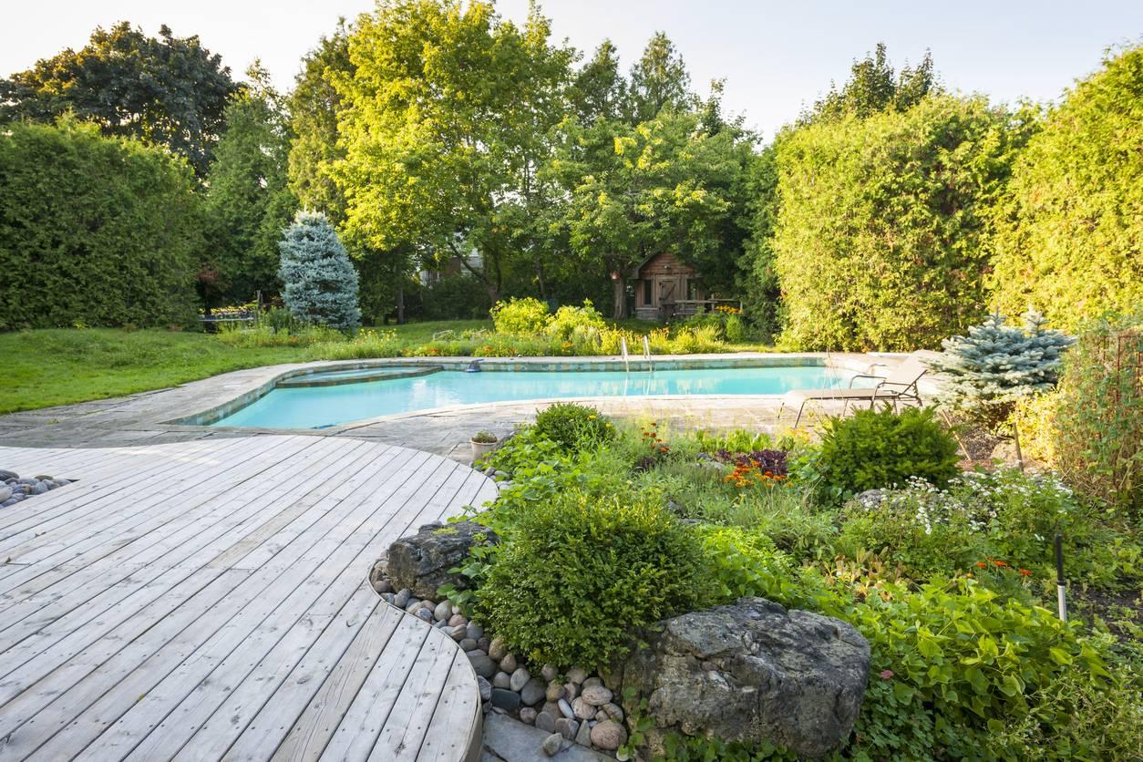 Jardin avec des bordures